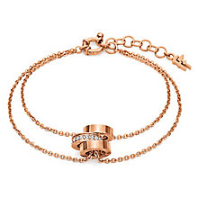 Folli Follie Rose Gold Plated Bracelet - Product number 5000572