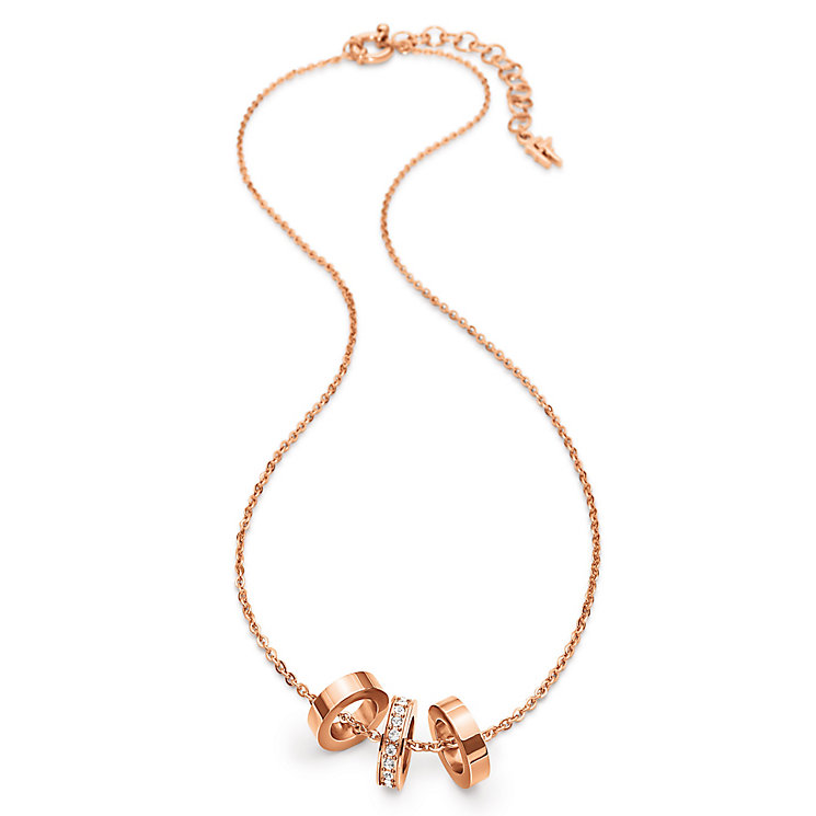 Folli Follie Rose Gold Plated Necklace - Product number 5000599