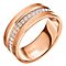 Folli Follie Rose Gold Plated Ring Size Small - Product number 5000602