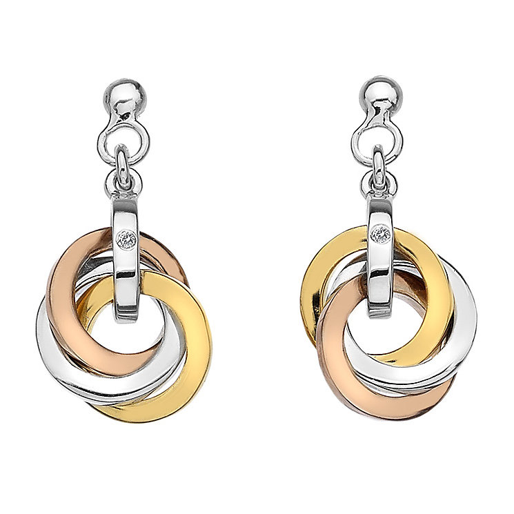 Hot Diamonds Rose and Yellow Gold Plated Earrings - Product number 5000718