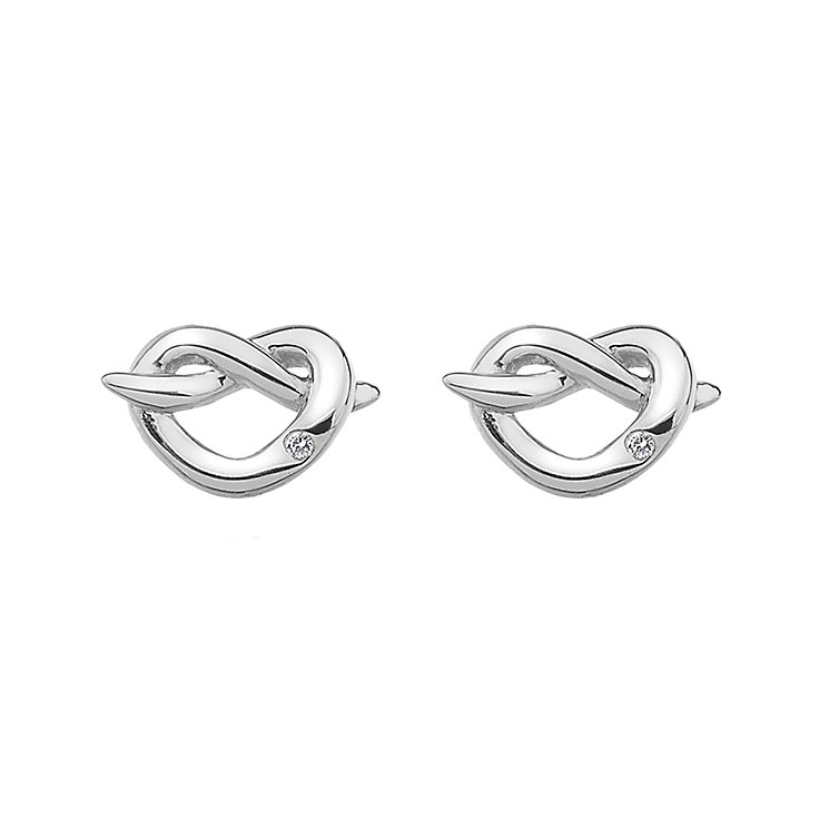 Hot Diamonds Silver Twist Heart Stud Earrings - Product number 5000734