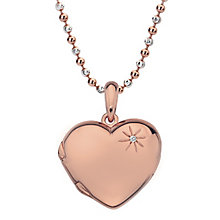 Hot Diamonds Rose Gold Plated Memoir Heart Pendant - Product number 5000831