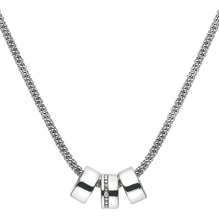 Hot Diamonds Silver Trio Statement Necklace - Product number 5000866
