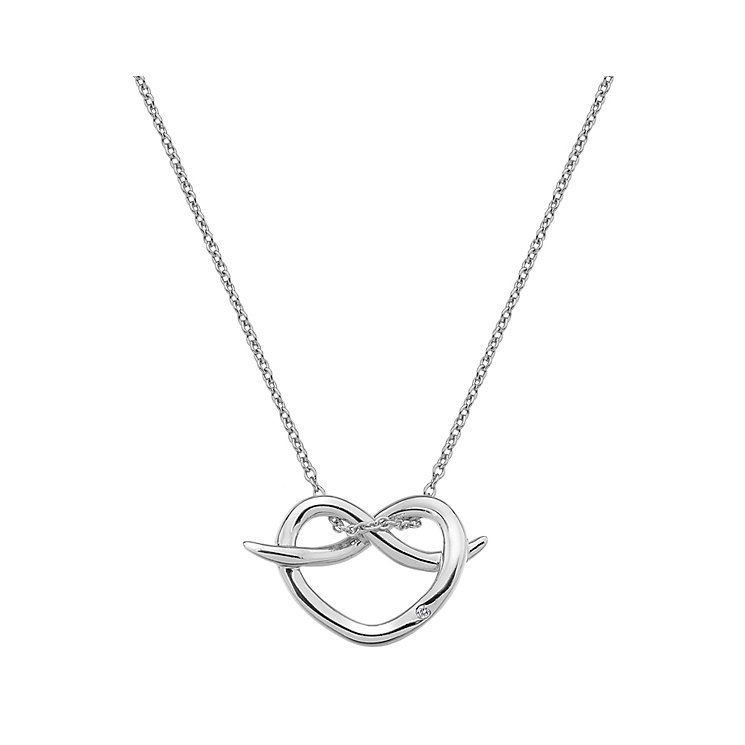 Hot Diamonds Silver Twist Heart Pendant - Product number 5000912