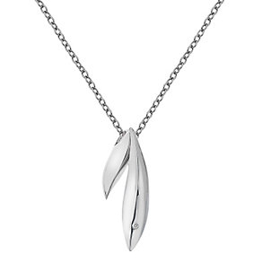 Hot Diamonds Silver Double Leaf Pendant - Product number 5000920