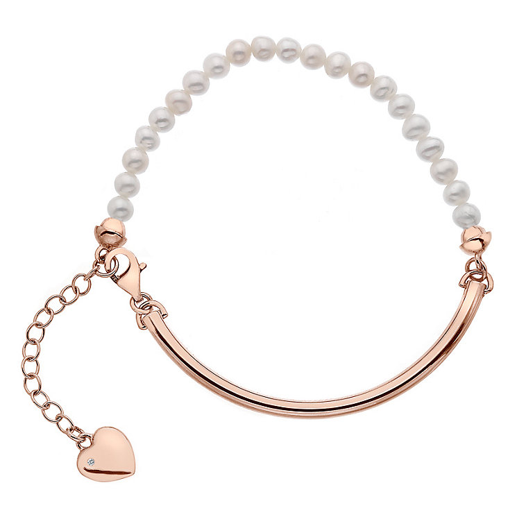 Hot Diamonds Rose Gold Plated Mother of Pearl 4mm Bracelet - Product number 5000963