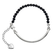 Hot Diamonds Silver Black Onyx 4mm Bracelet - Product number 5000971
