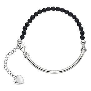 Hot Diamonds Silver Black Onyx 4mm Bracelet - Product number 5000971