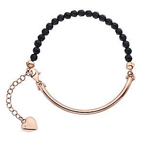 Hot Diamonds Rose Gold Plated Black Onyx 4mm Bracelet - Product number 5000998