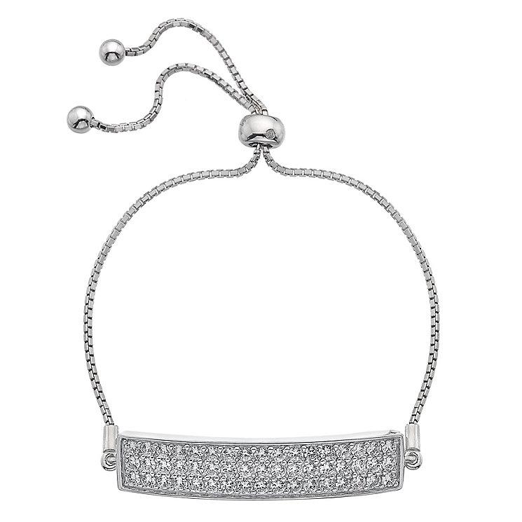 Hot Diamonds Silver Cubic Zirconia Triple Row Bracelet - Product number 5001064