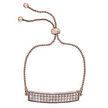 Hot Diamonds Rose Gold Plated Triple Row Bracelet - Product number 5001072