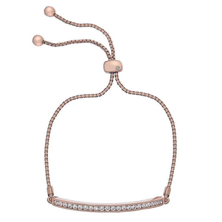 Hot Diamonds Rose Gold Plated Cubic Zirconia Bracelet - Product number 5001099