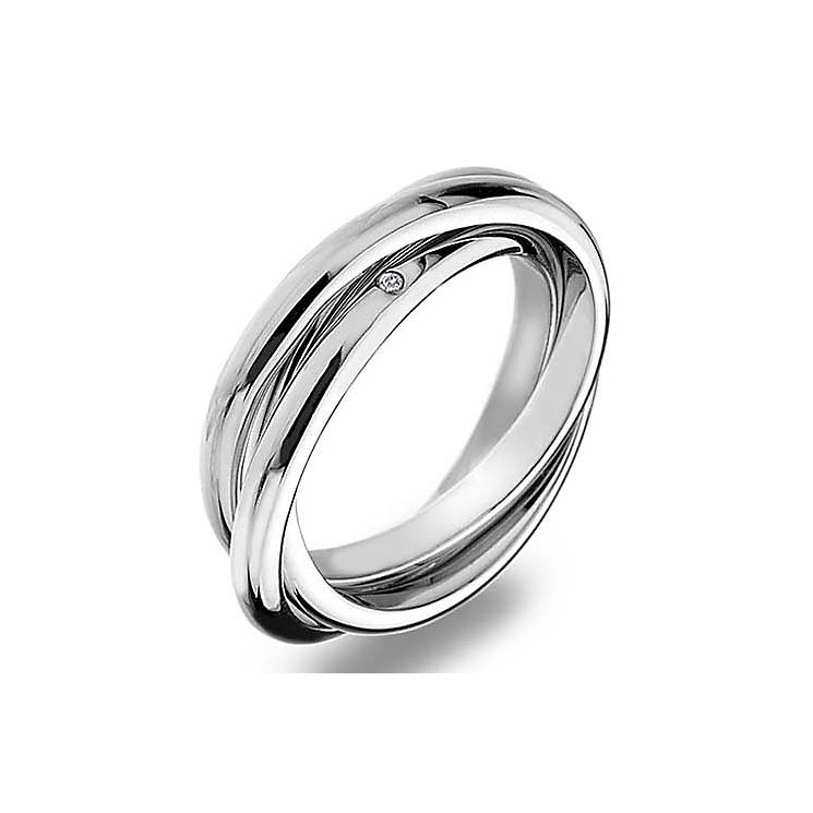 Hot Diamonds Silver Trio Ring Size N - Product number 5001110