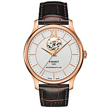 Tissot Men's Rose Gold Plated Strap Watch - Product number 5001633