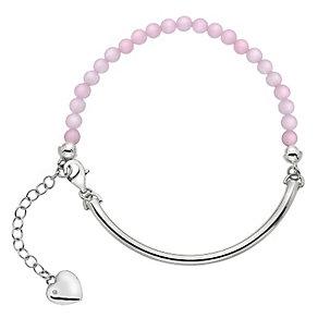 Hot Diamonds Silver Rose Quartz 4mm Bracelet - Product number 5001870