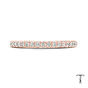 Tolkowsky 18ct Rose Gold 0.25ct Diamond Wedding Ring - Product number 5003539