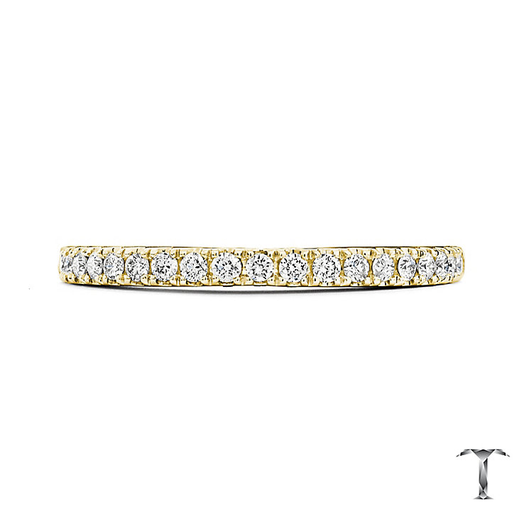 Tolkowsky 18ct Yellow Gold 0.25ct Diamond Wedding Ring - Product number 5003679