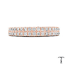 Tolkowsky 18ct Rose Gold 1/2ct Diamond Two Row Band - Product number 5003806