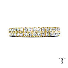 Tolkowsky 18ct Yellow Gold 0.50ct Diamond Two Row Band - Product number 5004152