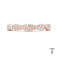 Tolkowsky 18ct Rose Gold 0.25ct Diamond 2 Row Twist Ring - Product number 5004373