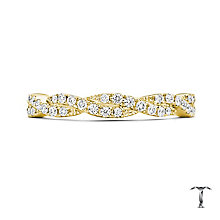 Tolkowsky 18ct Yellow Gold 0.25ct Diamond 2 Row Twist Ring - Product number 5004519