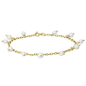 9ct Gold Cultured Freshwater Pearl Scatter Bracelet - Product number 5004675