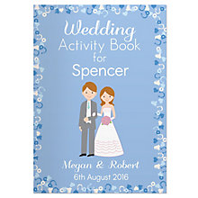 Personalised Wedding Activity Book for Boys - Product number 5004837