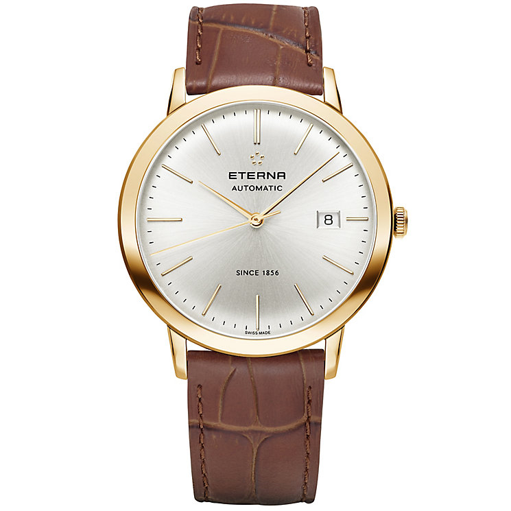 Eterna Men's Eternity Rose Gold Plated Strap Watch - Product number 5005043