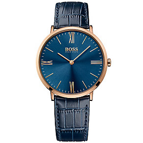 Hugo Boss Men's Rose Gold Plated Strap Watch - Product number 5006864