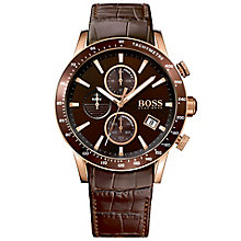 Hugo Boss Men's Rose gold tone Strap Watch - Product number 5006910