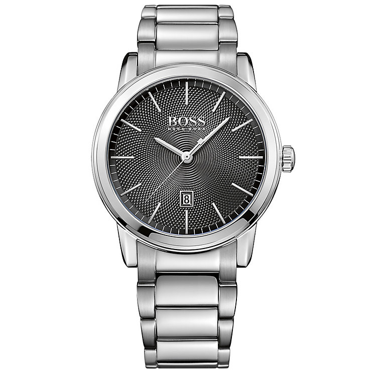 hugo boss watches boss watches uk ernest jones hugo boss men s stainless steel bracelet watch product number 5006929
