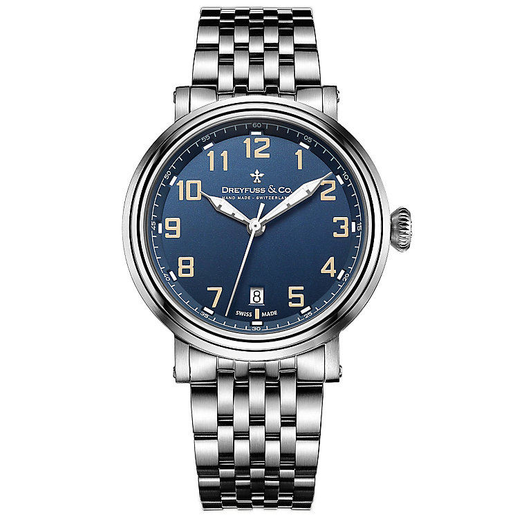 Dreyfuss & Co 1924 Men's Stainless Steel Bracelet Watch - Product number 5007496