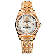 Breitling Galactic 29 Ladies' 18ct Rose Gold Bracelet Watch - Product number 5007941