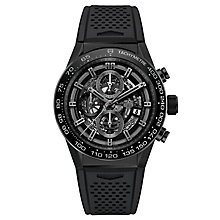 TAG Heuer Calibre Heuer 01 Men's Ion Plated Strap Watch - Product number 5008956