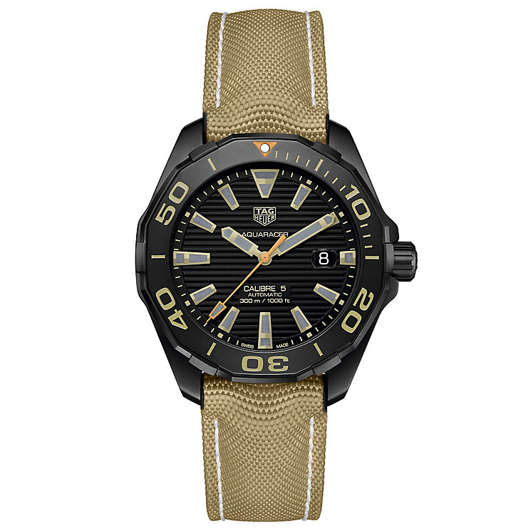 TAG Heuer Aquaracer Men's Ion Plated Strap Watch - Product number 5009472