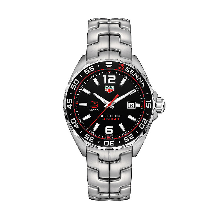 TAG Heuer F1 Senna Men's Stainless Steel Bracelet Watch - Product number 5009502