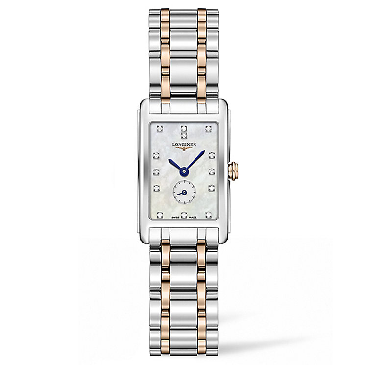Longines DolceVita Ladies' Two Colour Diamond Bracelet Watch - Product number 5011434
