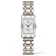Longines DolceVita Ladies' Two Colour Diamond Bracelet Watch - Product number 5011434