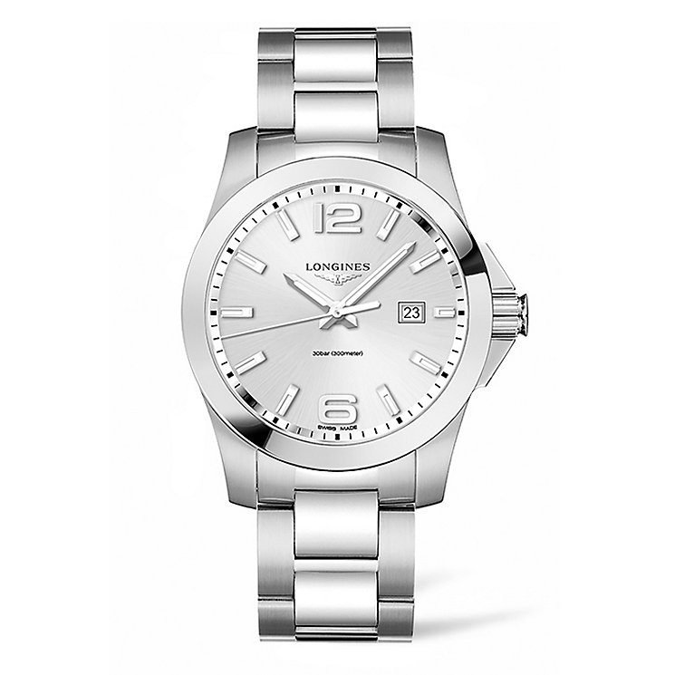 Longines Conquest Men's Stainless Steel Bracelet Watch - Product number 5011701