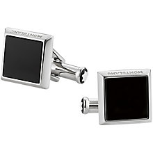Mont Blanc Stainless Steel Square Black Onyx Cufflinks - Product number 5011930