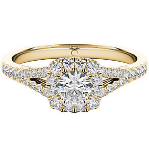 The Diamond Story 18ct Yellow Gold 0.50ct HI I1 Diamond Ring - Product number 5016614