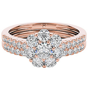 The Diamond Story 18ct Rose Gold 1ct Diamond Bridal Set - Product number 5017165