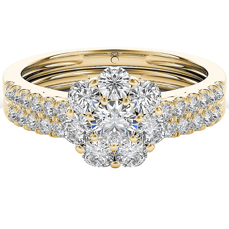 The Diamond Story 18ct Yellow Gold 1ct Diamond Bridal Set - Product number 5017319