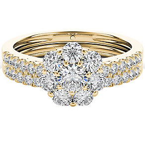 The Diamond Story 18ct Yellow Gold 1ct Diamond Bridal Set - Product number 5017319