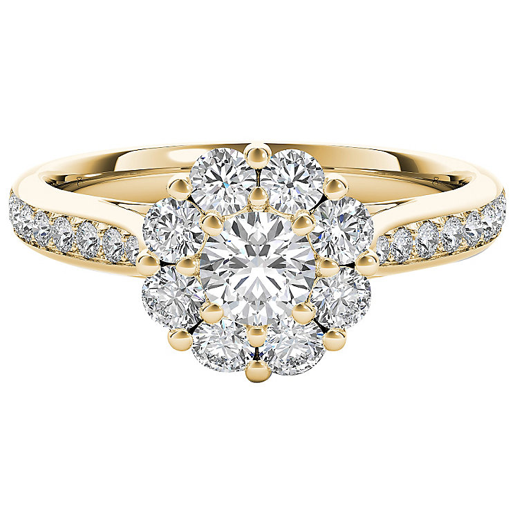 The Diamond Story 18ct Yellow Gold 1ct HI I1 Diamond Ring - Product number 5017920