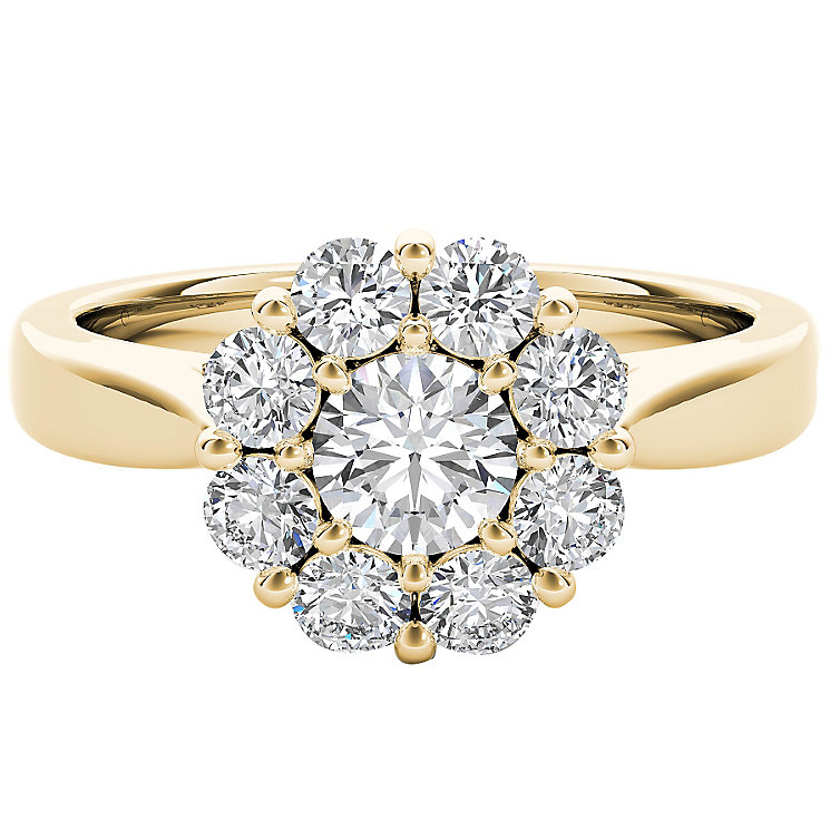 The Diamond Story 18ct Yellow Gold 1ct HI I1 Diamond Ring - Product number 5018285