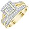 Perfect Fit 9ct Gold 2/3ct Princess Cut Diamond Bridal Set - Product number 5021626