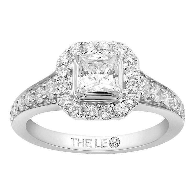 Leo Diamond Platinum 1.10ct I I1 Diamond Halo Ring - Product number 5021774