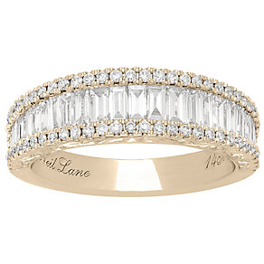 Neil Lane 14ct Yellow Gold 1.15ct 3 Row Ring - Product number 5021901