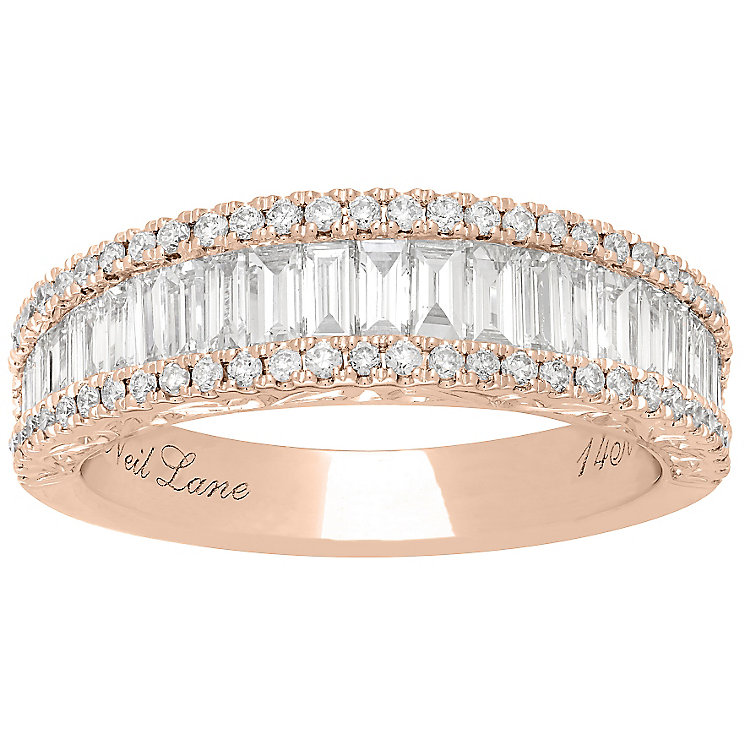 Neil Lane 14ct Rose Gold 1.15ct 3 Row band - Product number 5022037